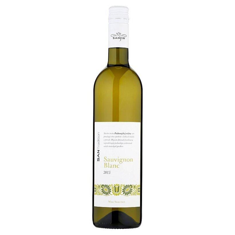 Sanvin San Tradition Sauvignon Blanc akostné odrodové víno biele suché 0,75 l