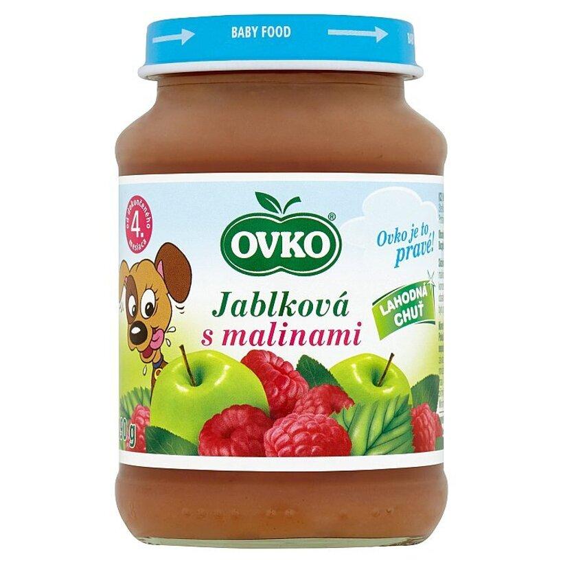 Ovko Jablková s malinami 190 g
