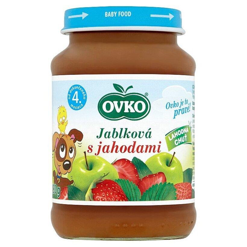 Ovko Jablková s jahodami 190 g
