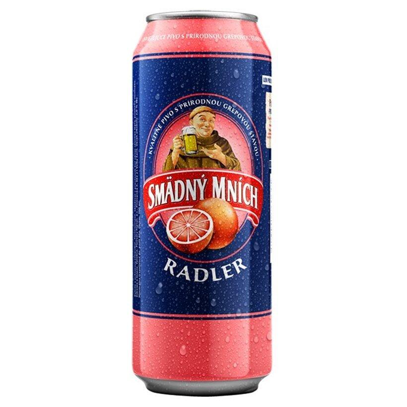 Smädný Mních Radler alkoholický pivný nápoj s grepovou príchuťou 500 ml