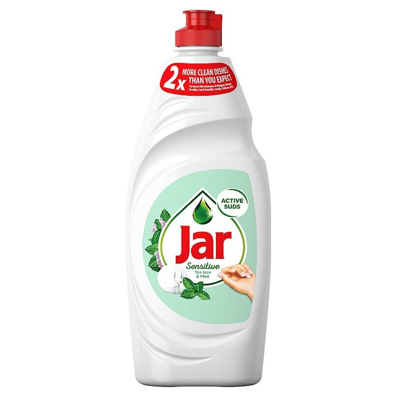 Jar Sensitive Teatree & Mint Prostriedok Na Umývanie Riadu, 650 ml