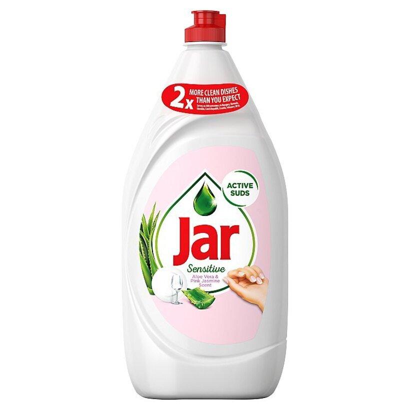 Jar Sensitive Vôňa Aloe Vera & Pink Jasmin Prostriedok Na Umývanie Riadu, 1,35 l