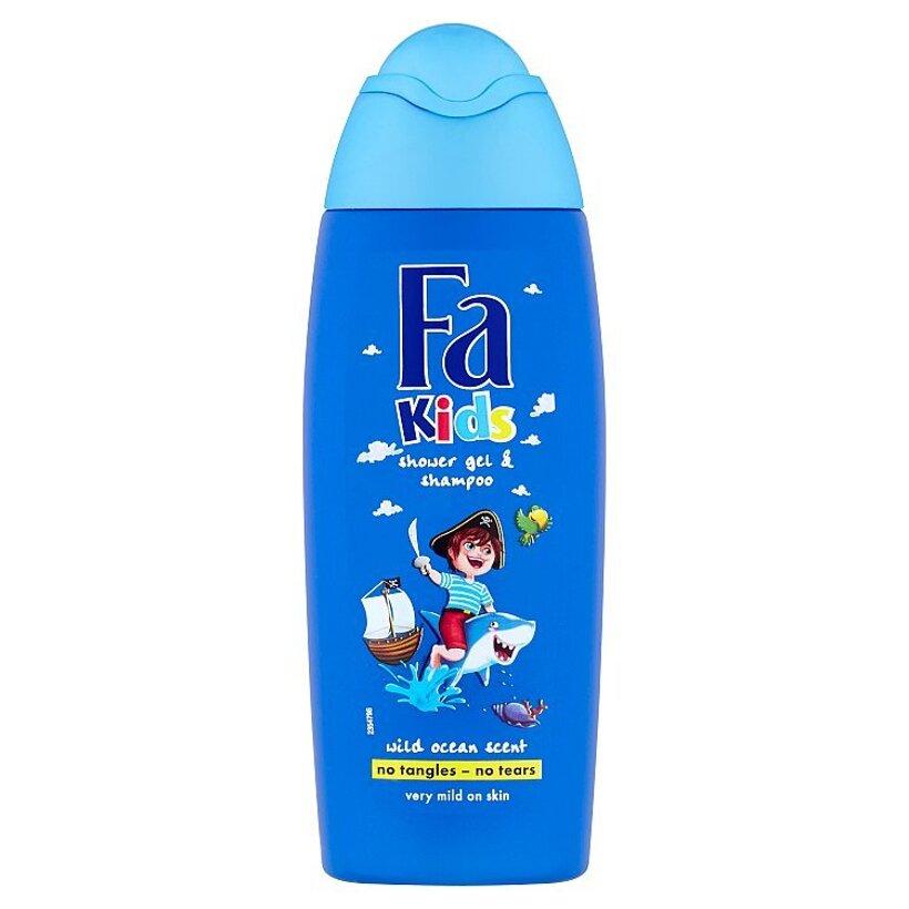 Fa Kids sprchovací gél a šampón Wild Ocean 250 ml
