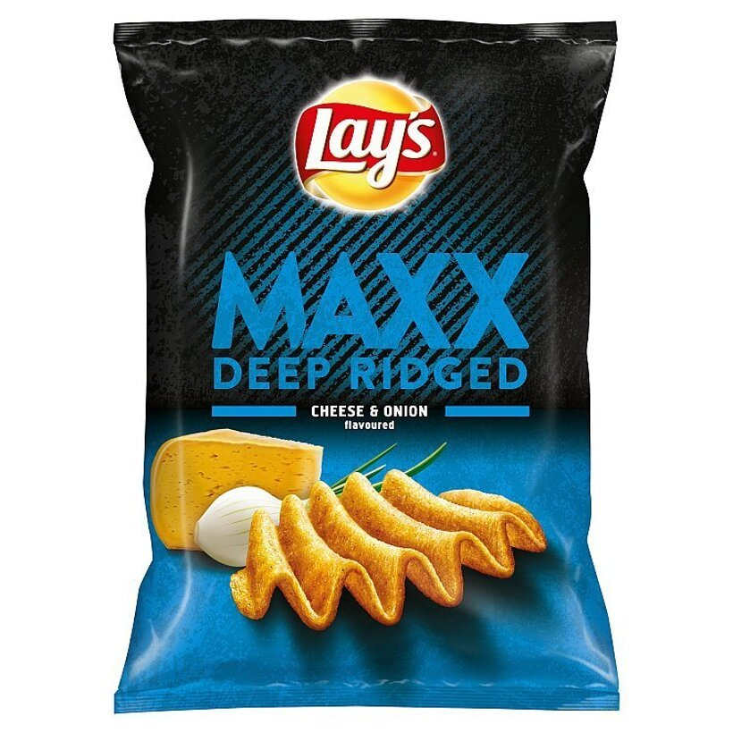 Lay's Maxx Vyprážané zemiakové lupienky s príchuťou syra a cibuľky 65 g