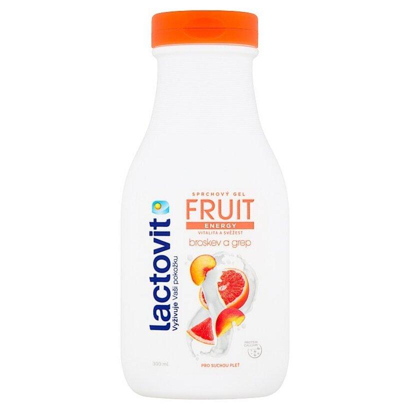 Lactovit Fruit Energy broskyňa a grapefruit sprchový gél 300 ml
