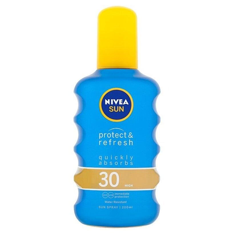 Nivea Sun Protect & Refresh Neviditeľný sprej na opaľovanie OF 30 200 ml