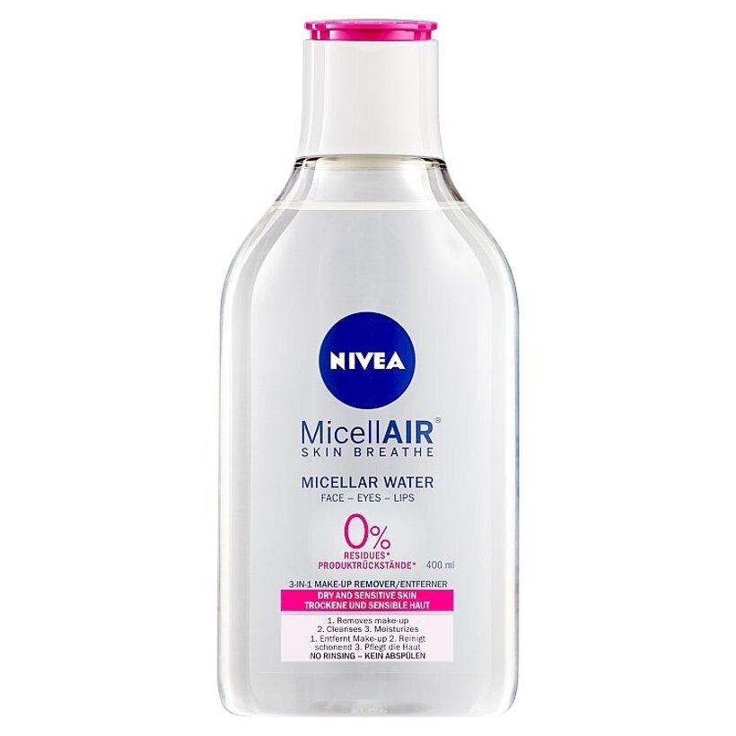 Nivea MicellAir Jemná micelárna voda pre suchú až citlivú pleť 400 ml