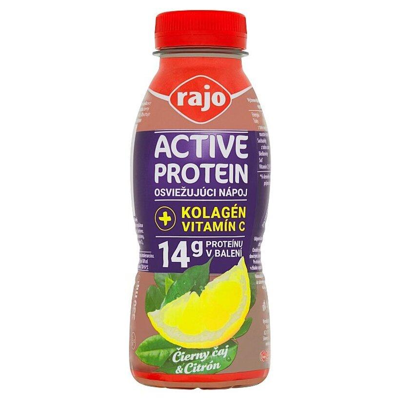 Rajo Active Protein Osviežujúci nápoj čierny čaj & citrón 330 ml