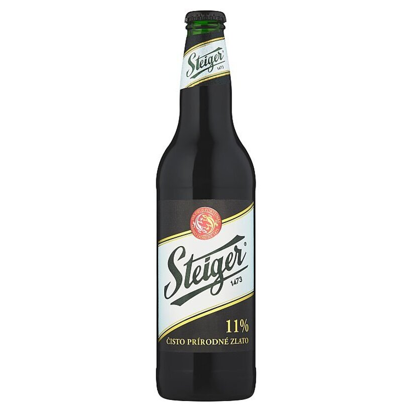 Steiger Pivo výčapný ležiak 11% tmavý 0,5 l
