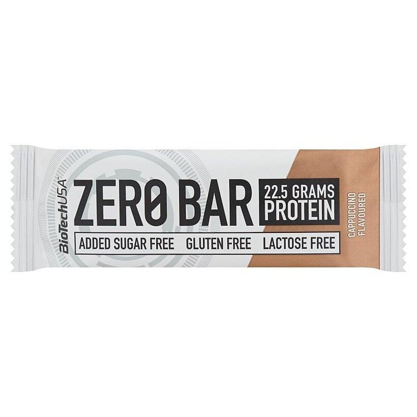 BioTechUSA Zero Bar proteínová tyčinka s vysokým obsahom bielkovín kapučíno 50 g