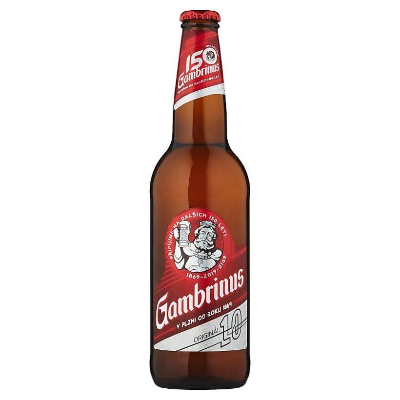 Gambrinus Originál 10 pivo výčapné svetlé 0,5 l