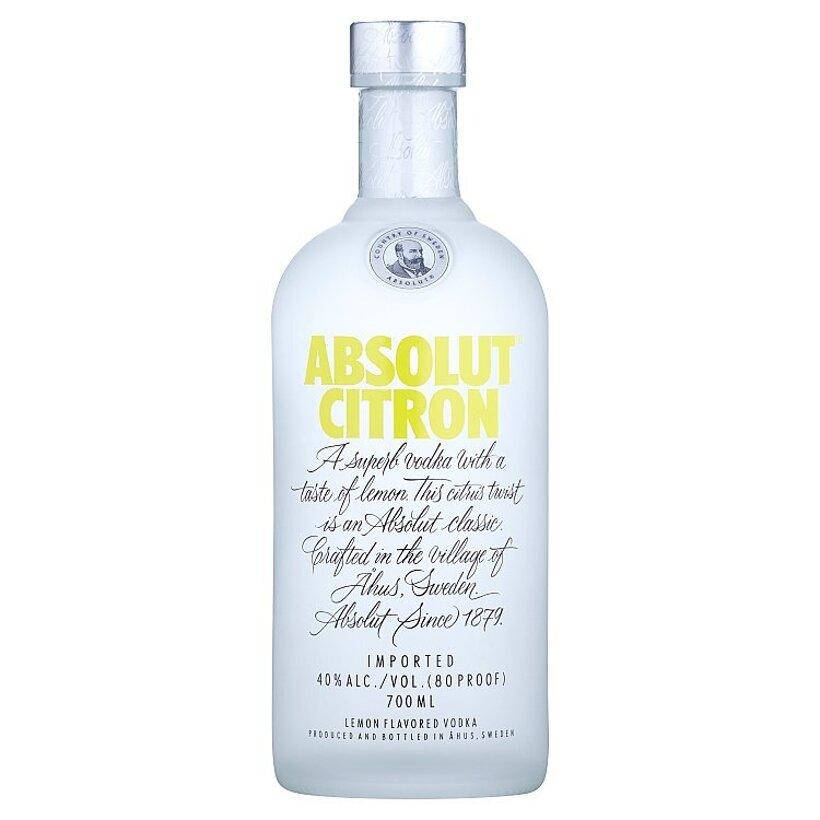 Absolut Citron Vodka s Citrónovou Príchuťou 700 ml