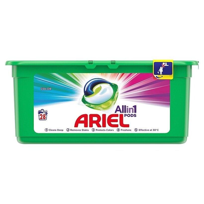Ariel All In 1 Pods Color, Gélové Kapsuly Na Pranie, 28 Praní