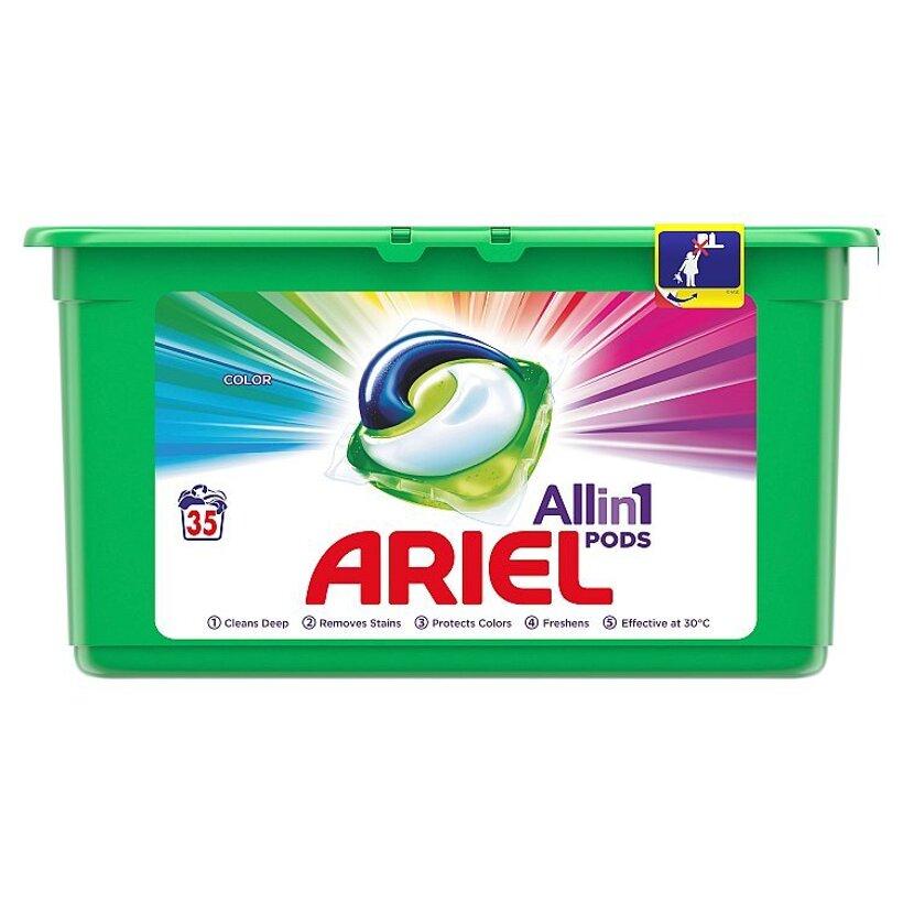 Ariel All In 1 Pods Color, Gélové Kapsuly Na Pranie, 35 Praní