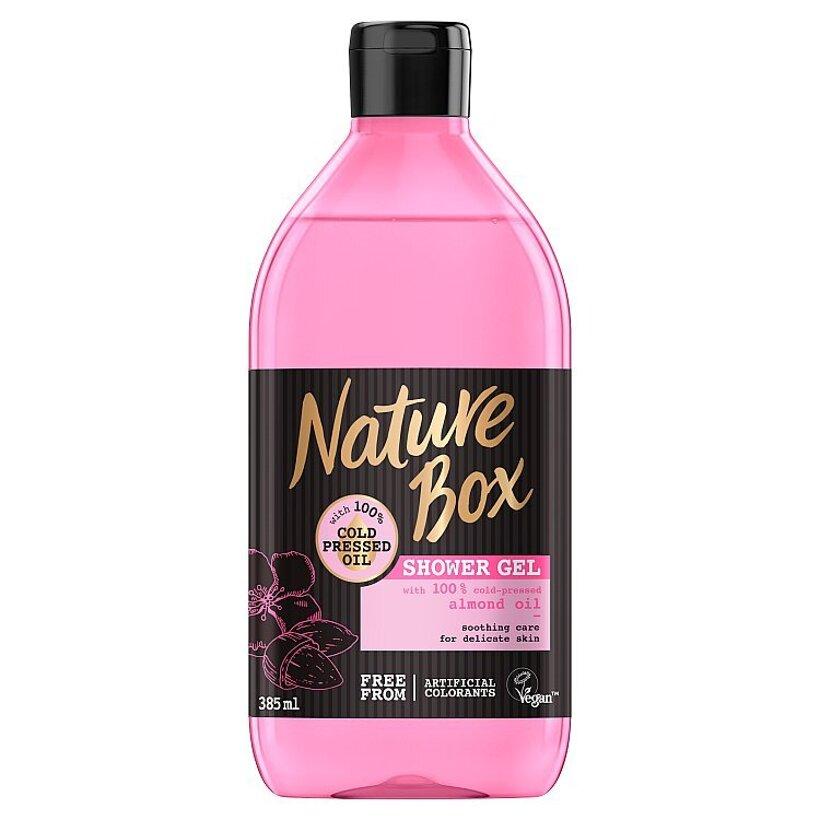 Nature Box sprchovací gél Almond Oil 385 ml