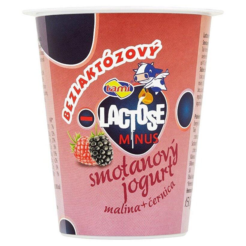 Tami Lactose minus Smotanový jogurt malina + černica 150 g