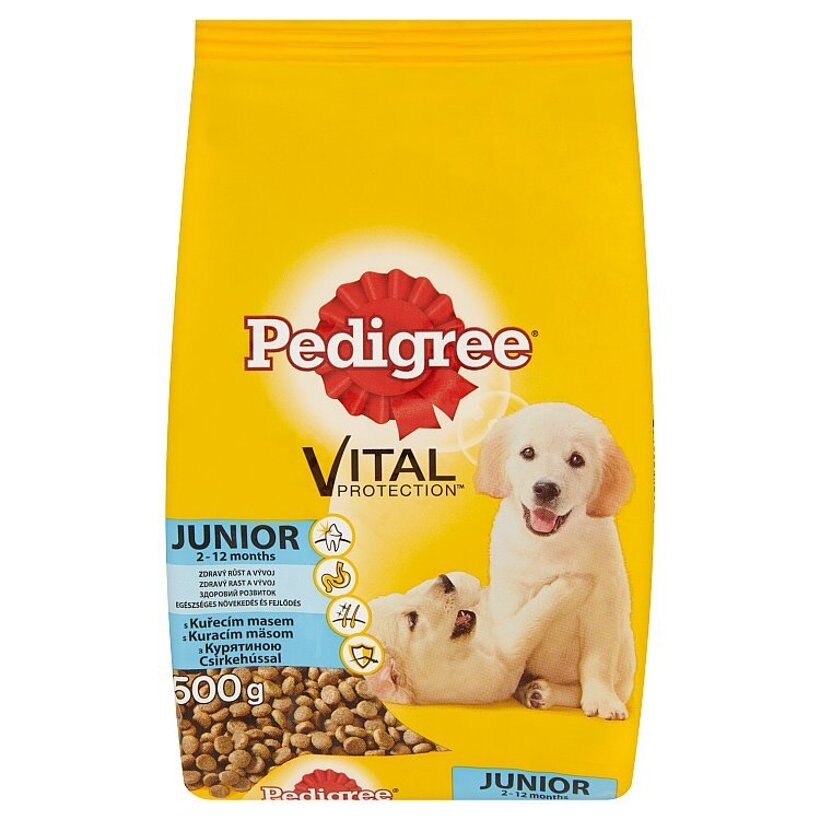 Pedigree Vital Protection Junior Kuracie mäso kompletné krmivo 500 g