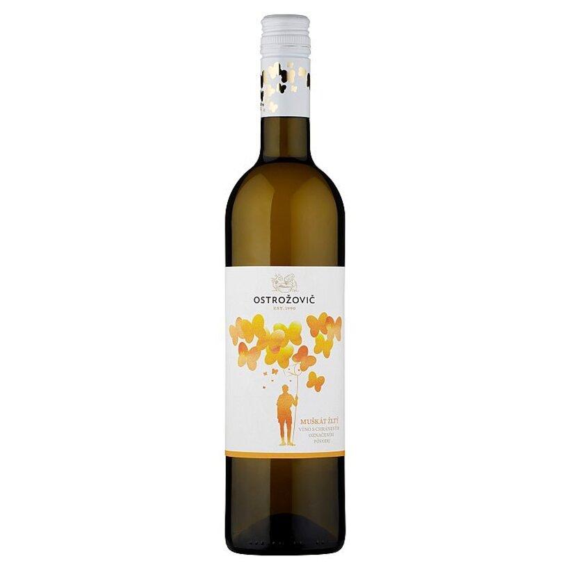 Ostrožovič Muškát žltý víno biele polosuché, 0,75 l