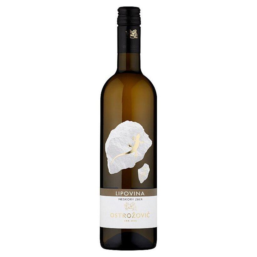 Ostrožovič Lipovina akostné odrodové víno s prívlastkom neskorý zber biele suché 0,75 l