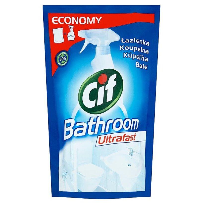 Cif Kúpeľňa ultrafast tekutý čistiaci prípravok náhradná náplň 500 ml