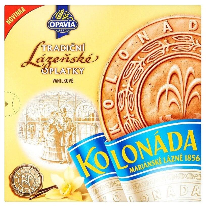 Opavia Kolonáda Kakaové oblátky s vanilkovou náplňou 195 g