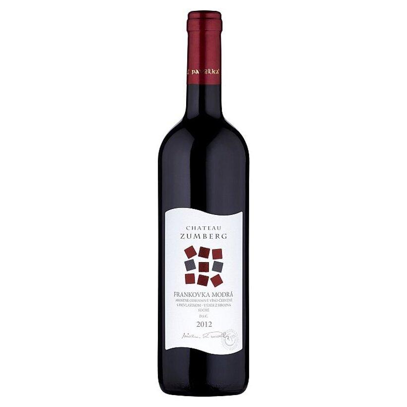 Chateau Zumberg Frankoka modrá akostné odrodové víno červené suché 0,75 l