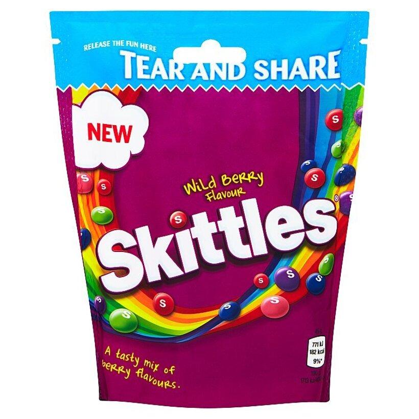 Skittles Žuvacie cukríky v chrumkavej cukrovej vrstve s príchuťou lesného ovocia 174 g