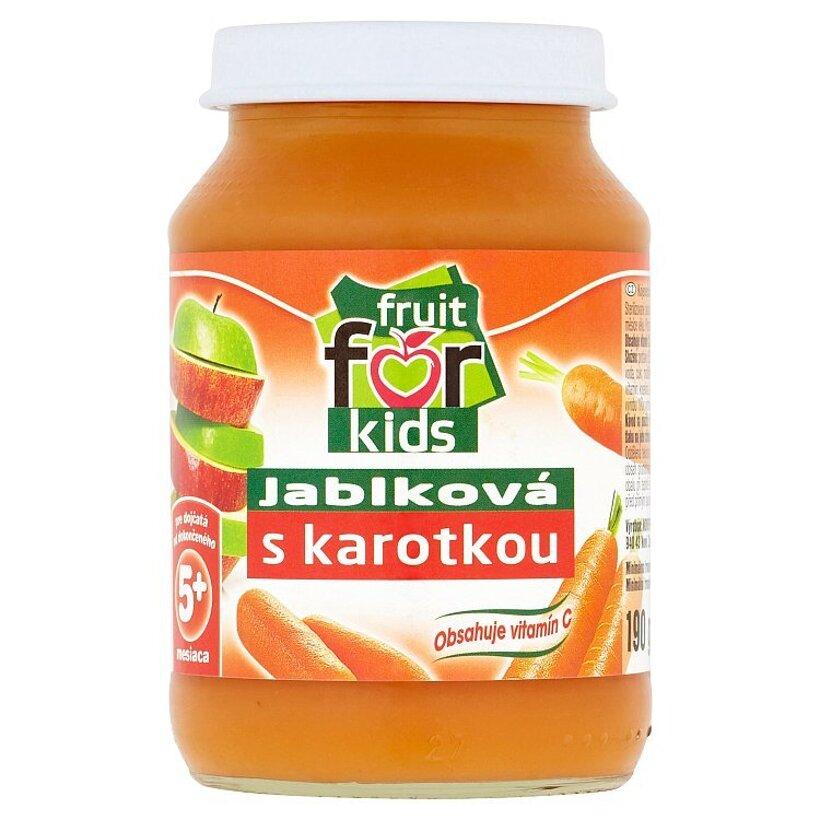 Fruit for Kids Dojčenská výživa jablková s karotkou 190 g