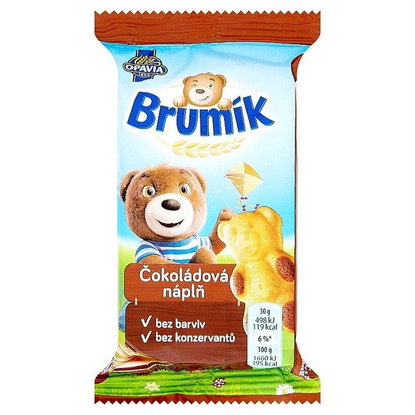 Opavia Brumík Jemné pečivo s čokoládovou náplňou 30 g