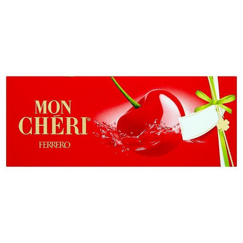 Ferrero Mon Cherri čokoládové bonbóny plnené celou čerešňou v likéri 105 g