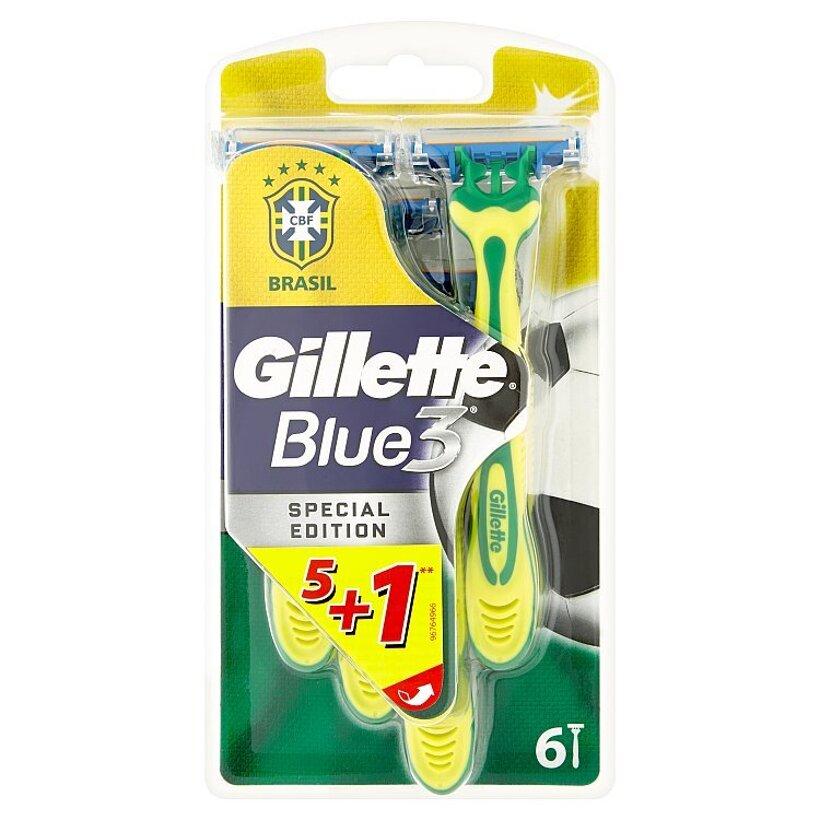Gillette Blue3 Special Edition jednorazové holiace strojčeky so zvlhčujúcim pásikom 6 ks