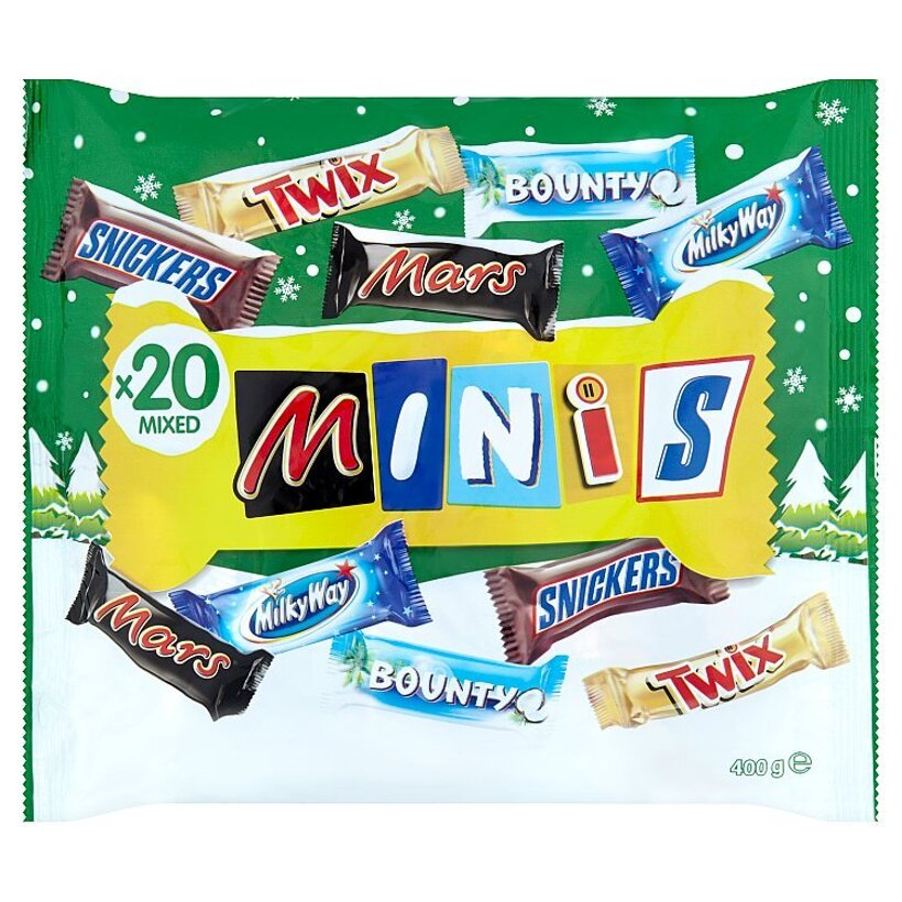Winter Minis Mix Bounty, Mars, Milky Way, Snickers, Twix 400 g