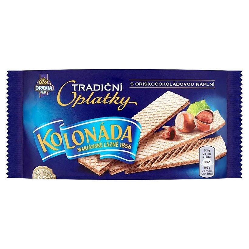 Opavia Kolonáda Oplátky s lieskovoorieškovo-čokoládovou náplňou 140 g