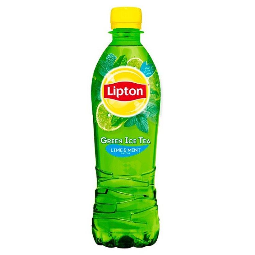 Lipton Ľadový čaj zelený s príchuťou limety a mäty 0,5 l