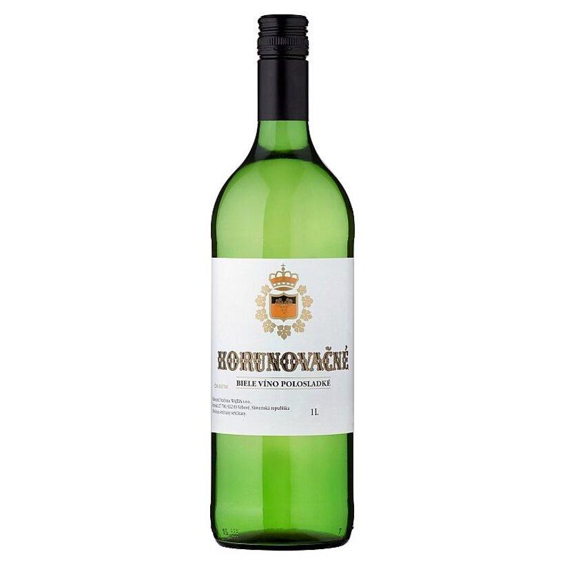 Korunovačné biele víno polosladké 1 l