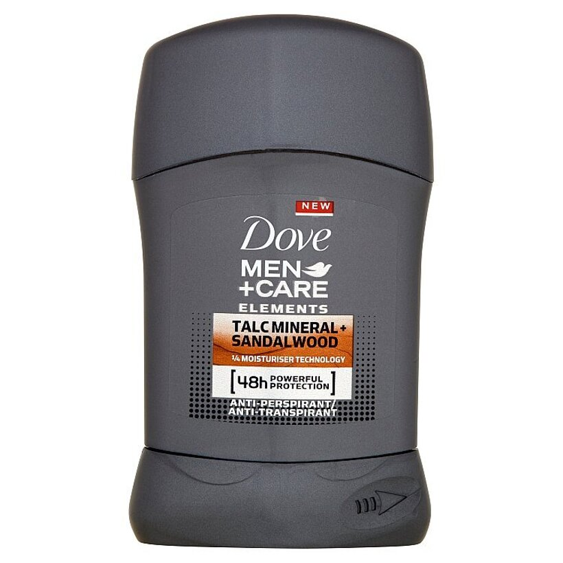 Dove Men+Care Talc mineral + sandalwood tuhý antiperspirant pre mužov 50 ml