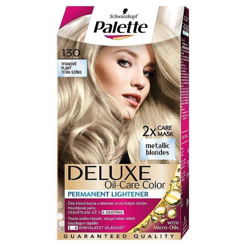 Schwarzkopf Palette Deluxe farba na vlasy Titánový Blond 130
