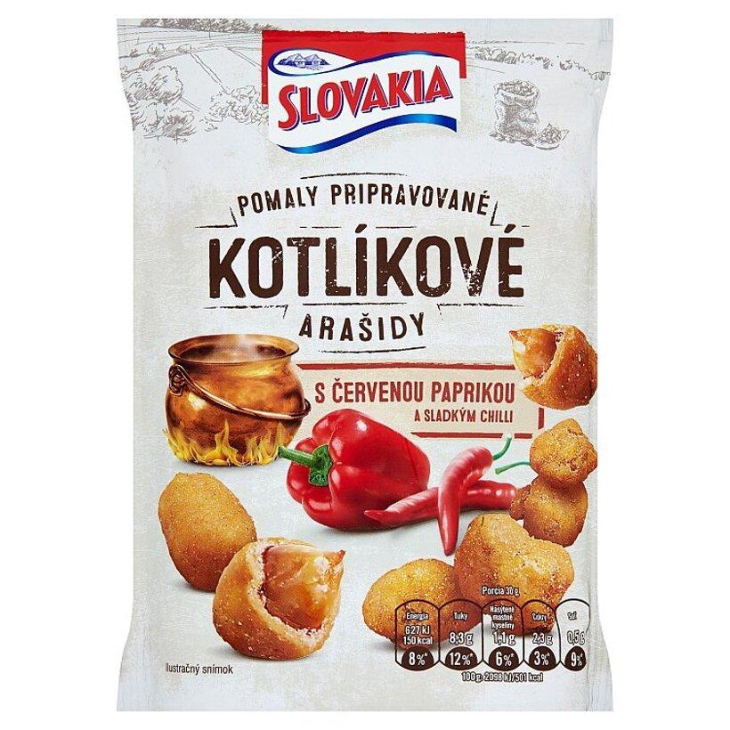 Slovakia Kotlíkové Pražené arašidy s červenou paprikou a sladkým chilli 150 g