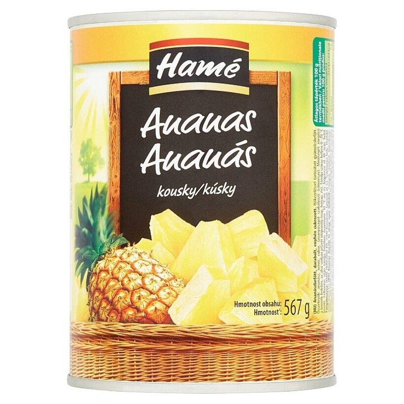 Hamé Ananás kúsky v sladkom náleve 567 g