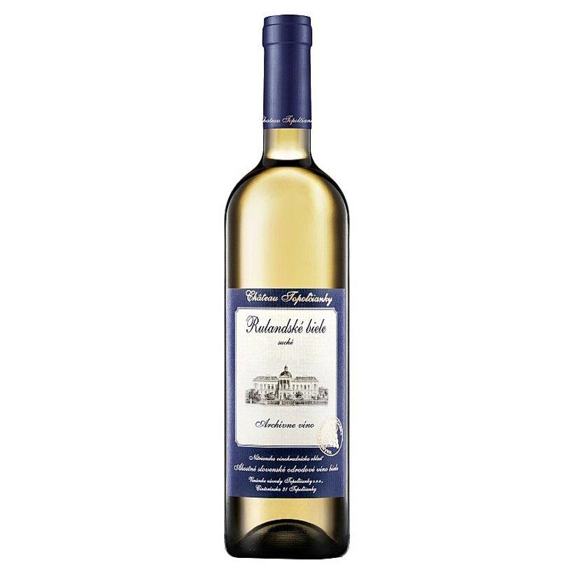 Château Topoľčianky Rulandské biele slovenské akostné odrodové víno biele suché 0,75 l