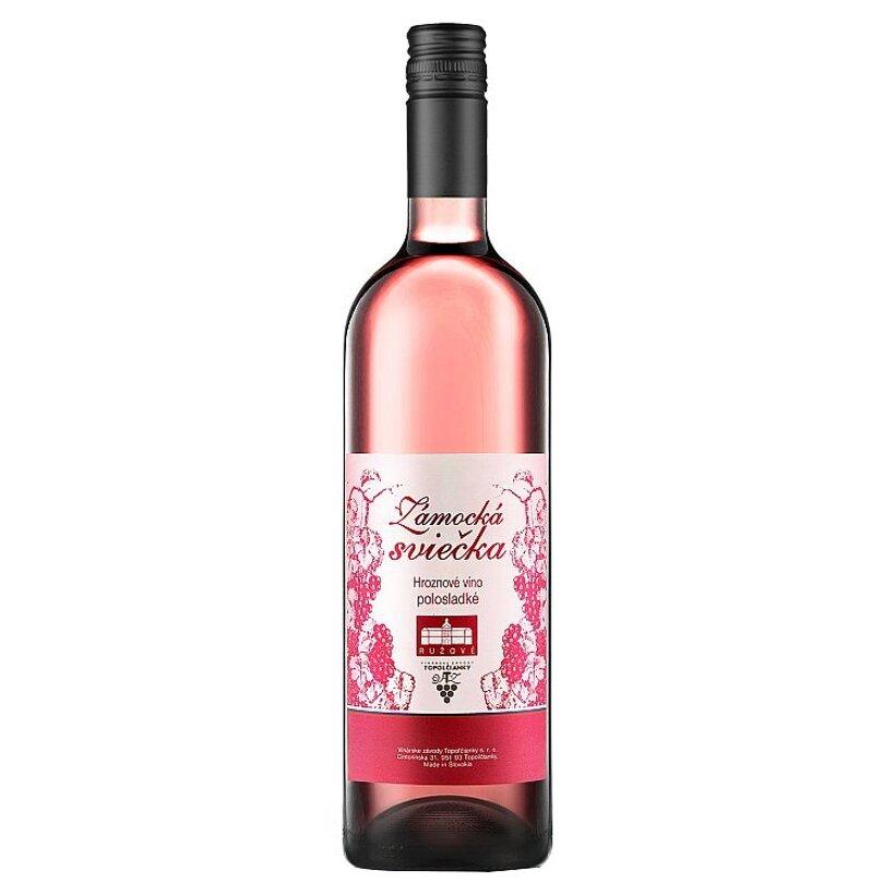 Zámocká sviečka Hroznové víno polosladké ružové 1 l