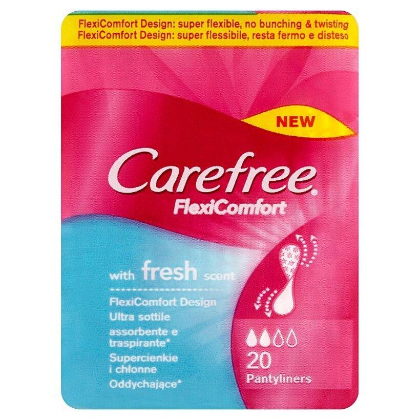 Carefree FlexiComfort Slipové vložky so sviežou vôňou 20 ks