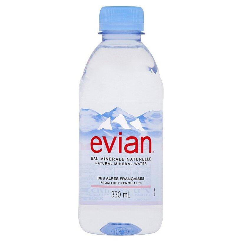 Evian Prírodná minerálna voda nesýtená 330 ml