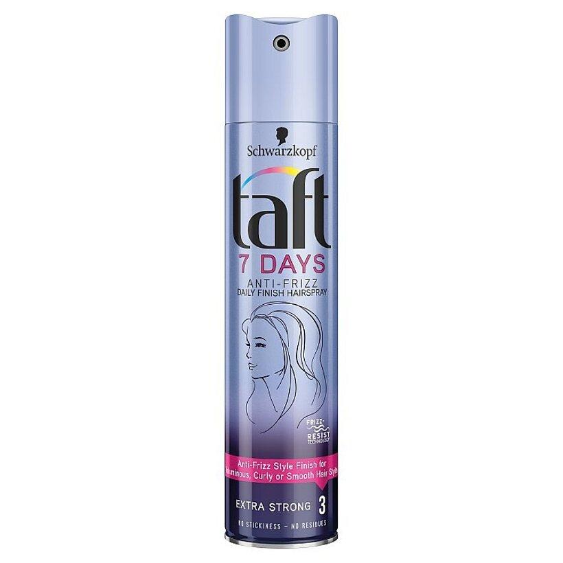 Taft 7 Days lak na vlasy Anti - Frizz 250 ml