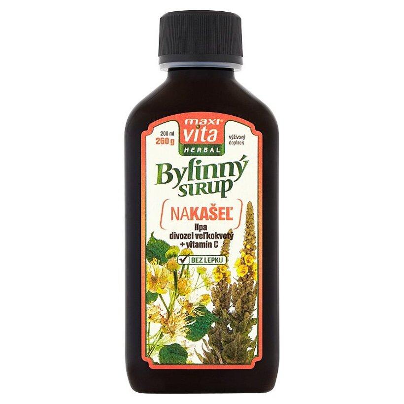 MaxiVita Herbal Bylinný sirup Nakašeľ 200 ml
