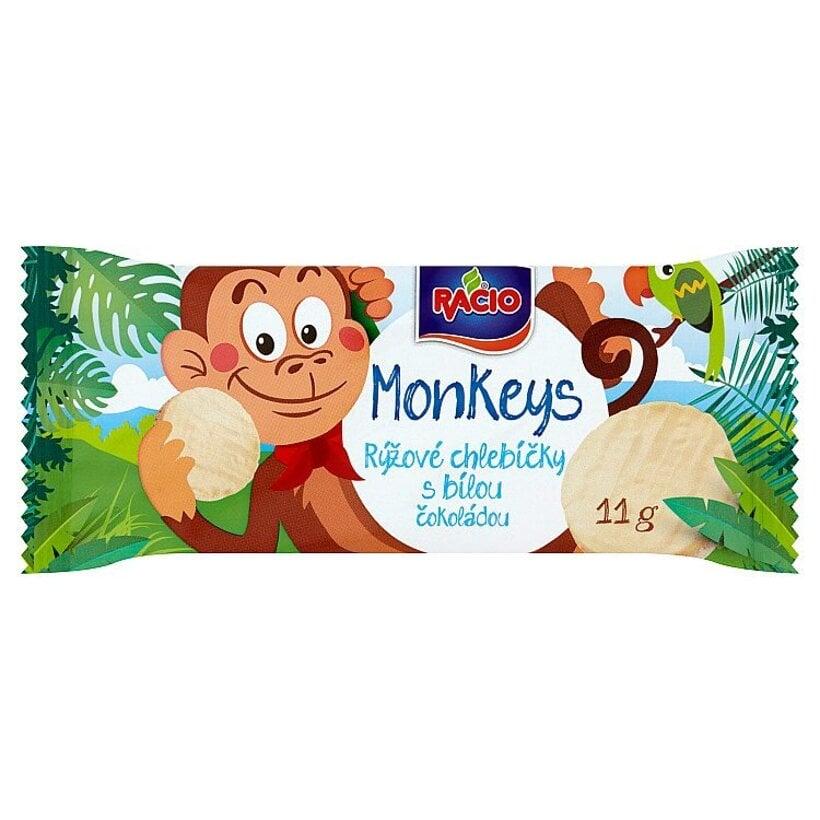 Racio MonKeys Ryžové chlebíčky s bielou čokoládou s jogurtovou chuťou 11 g