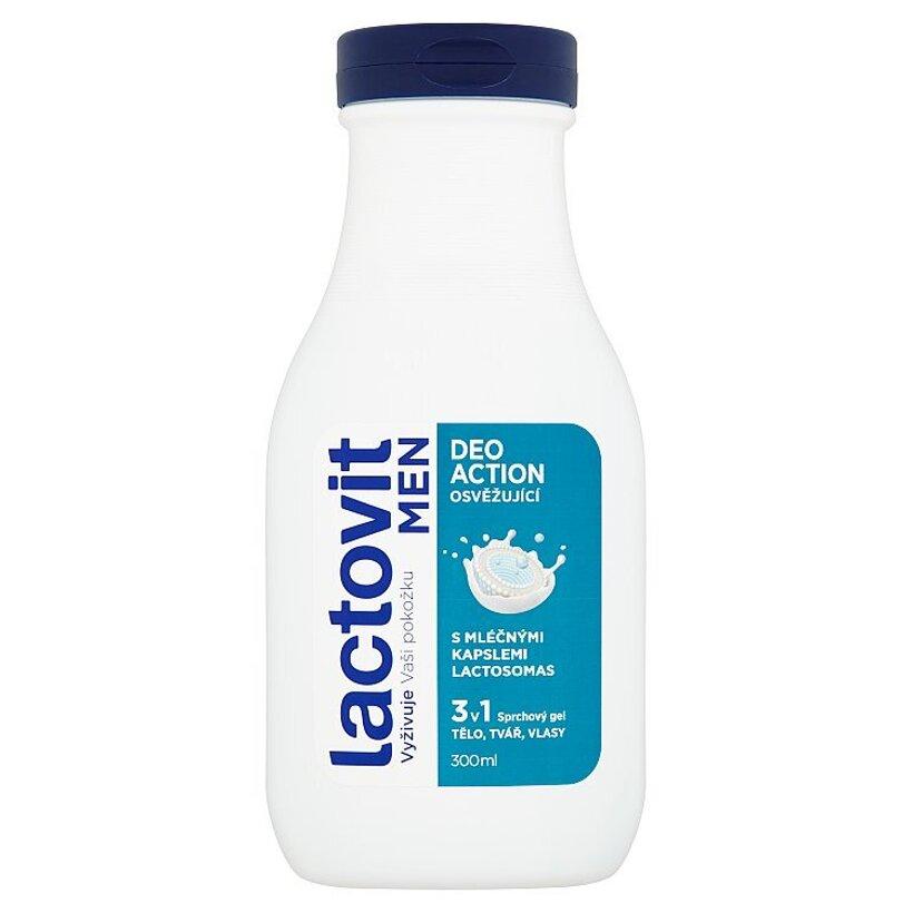 Lactovit Men DeoAction 3 v 1 osviežujúci sprchový gél 300 ml