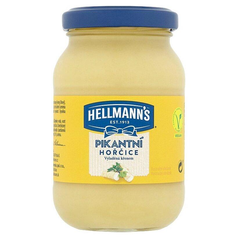 Hellmann's Pikantná horčica ochutená s chrenom 240 g
