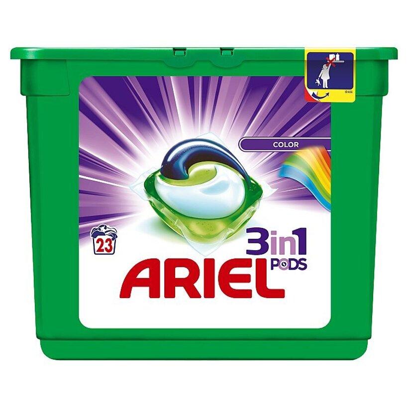 Ariel Color 3v1 gélové kapsuly na pranie bielizne, na 23 praní