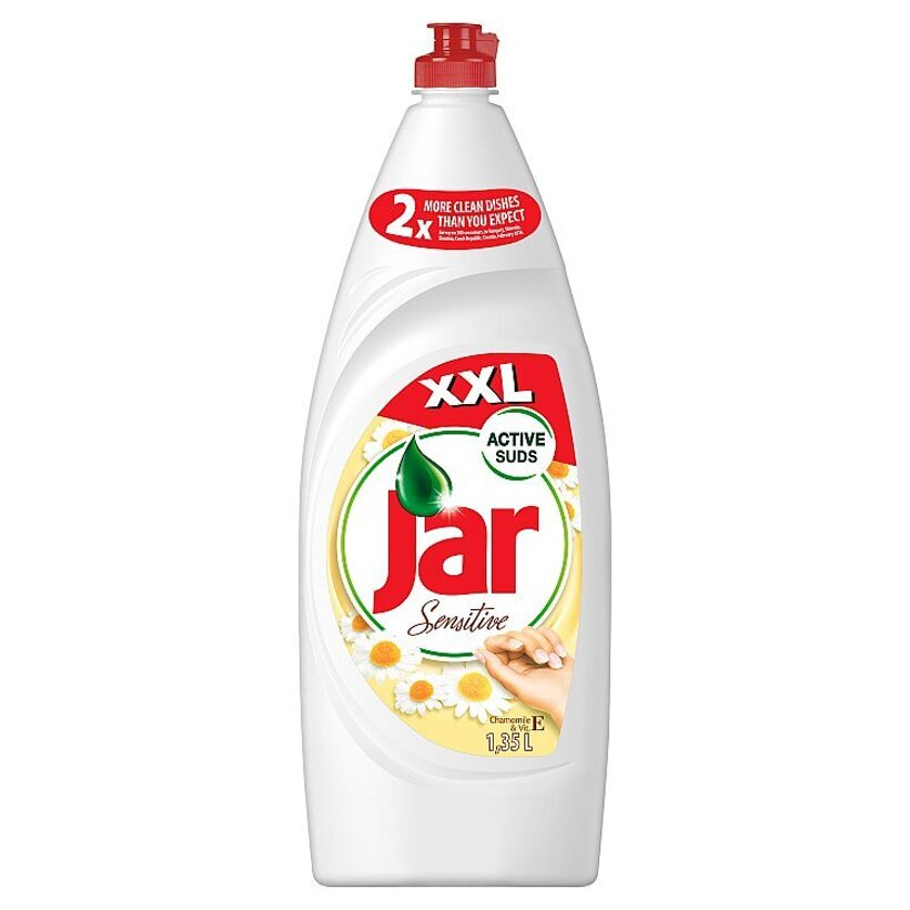 Jar Sensitive Chamomile & Vitamin E prostriedok na umývanie riadu  1350 ml